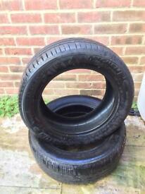 x2 Michelin tyres 205 55 16