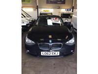 BMW 116D Efficient Dynamics Black 2012/12 Reg 3 Month Warranty Zero Road Tax £7999