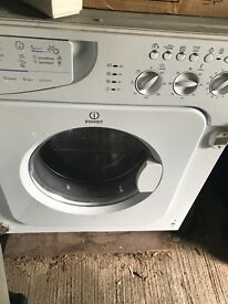 INDESIT WASHER DRYER WASHING MACHINE IWDE12 IN WHITE