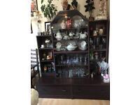 Mahogany effect cabinet