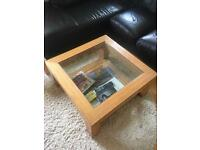 Coffee Table - Wood and Glass