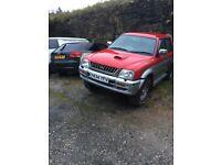 2000 Mitsubishi L200 DOUBLE CAB SPARES/REPAIRS