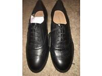 Brand new size 6 black leather brogues
