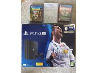 New ps4 pro 3 games warranty delivery