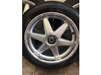 "18""alloys and tyres Honda 114.3"