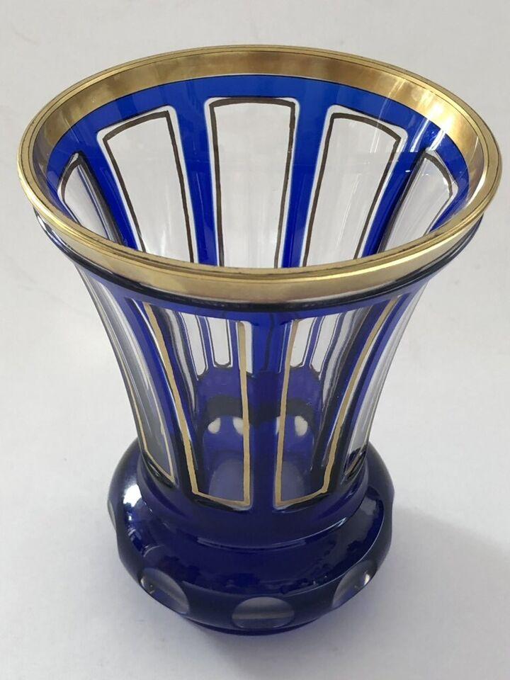 Antik Ranftbecher Glas Pokal Gold in Hagen