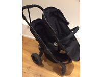 iCandy Peach 3 Double Pushchair Jet Black