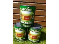 3 x tins of cuprinol fence care paint collection is from langley