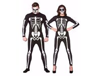SKELETON/DAY OF THE DEAD FANCY DRESS OUTFIT SIZE L GREAT FOR PARTY OR STAG DO