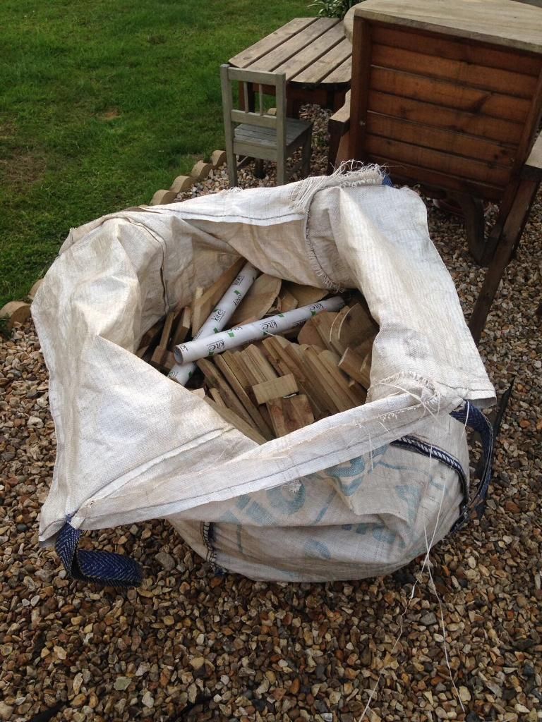 Wood off cuts, perfect for wood burner or fire pitin Broadstone, DorsetGumtree - Big bag of wood and more regularly if you wanted itCollection from Broadstone