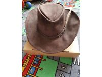 New brown leather Fancy dress cowboy hat or line dancing