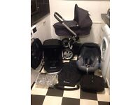 **BARGAIN**QUINNY BUZZ PUSHCHAIR WITH CARRYCOT * MAXI COSI CAR SEAT * XL SEAT * RAINCOVER *ADAPTERS