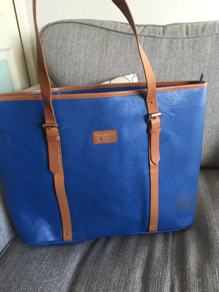 Paul Costelloe designer handbag - genuine royal blue shopper bag ... 29eee9c293a03