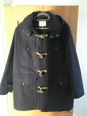 Kent And Curwen Melton Duffle Coat/Jacket David Beckham Navy Small RRP £875