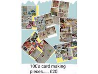 Make your own xmas cards Hundreds of pieces.....