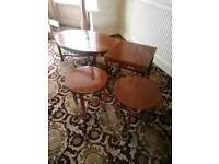Oval coffee table and matching nest of tables