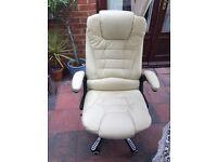Office swivel chair on wheels