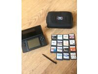 DS Lite with games, Charger, games case & Stylus