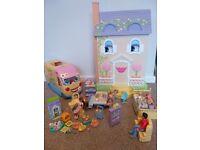 Mrs Goodbee interactive talking dollshouse, figures, furniture sets interactive talking campervan