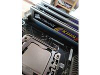 X58 Motherboard, Intel i7-950 @ 3.1 Ghz, 6 GB 1600 MHz Triple Channel RAM, SLI