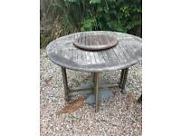 Garden Table & 4 X Chairs With Parasol