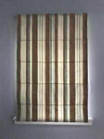 6 x Roman Blinds: various sizes, fully lined and work perfectly