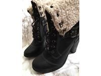 TWO pairs of Ankle lace up boots! Size 8
