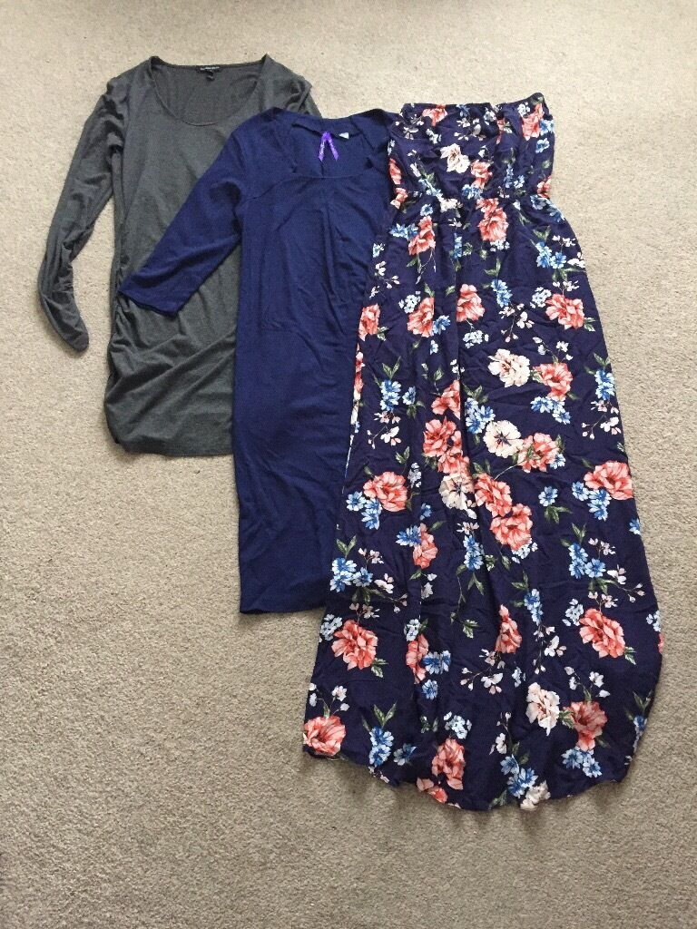 Maternity clothes size 10in Carrick Knowe, EdinburghGumtree - Maternity clothes Size 10. All in very good condition. Grey tunic/top by Isabella Oliver Blue dress by Seraphine Maxi Summer dress by Next 5£ each or 12£ all