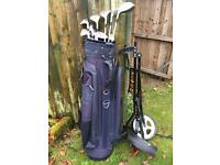 Full Golf set ladies graphite including trolley