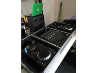 Pioneer cdj 350s, djm 500 mixer and Gorilla flightcase