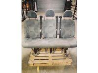 Ford Transit seats minibus/campervan rear triple seat