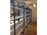 JOBLOT 20 bays of PROVOST industrial shelving 2.1m high ( storage , pallet racking )
