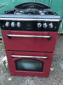 Gas cooker 60cm double gas ovens free delivery