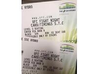 2 x tickets for ufc fight night Glasgow