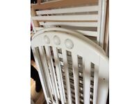 Mamas papas white cot only used at nannies house