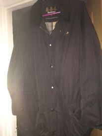Xxl men's black Barbour coat