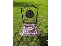Two BRAND NEW Ceramic Garden Chairs