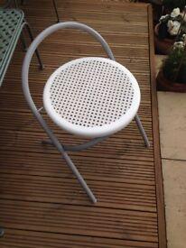 Folding chair - grey metal