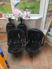 Two Kiddy Evolution Recliner Car Seats