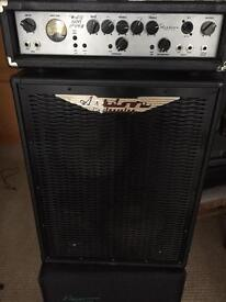 Ashdown bass amp MAG 600 EVO II and ABM 2x10 cab
