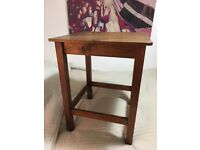 Wooden Table - square 48cmx48cm and 60cm tall.