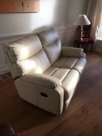 Reclining leather sofa and electric chair