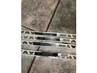 4 chrome square edge metal tile trims
