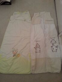 Baby Sleeping Bags, 6-18 months, 18-36 months, Excellent Condition