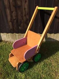 Children's Wooden cart/pushchair