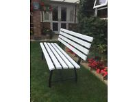 GARDEN BENCH GOOD AND SOLID REPAINTED