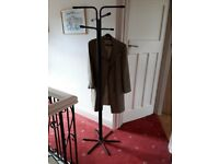 Coat / Hat stand, black metal with matching hangers