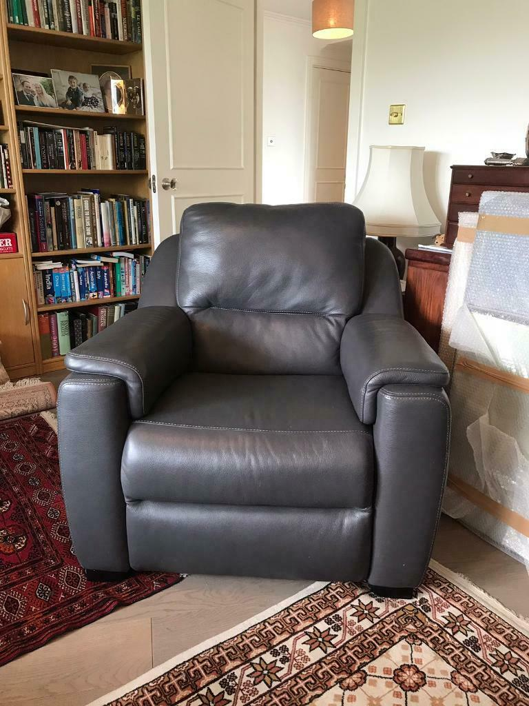 Enjoyable Grey Real Leather Arm Chairs In Kingston London Gumtree Caraccident5 Cool Chair Designs And Ideas Caraccident5Info