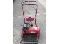 "Suffolk Punch 17"" petrol cylinder mower and grass box"