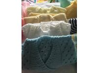 Baby clothes from newborn to 0/3month lots suit boy or girl also hand knitting